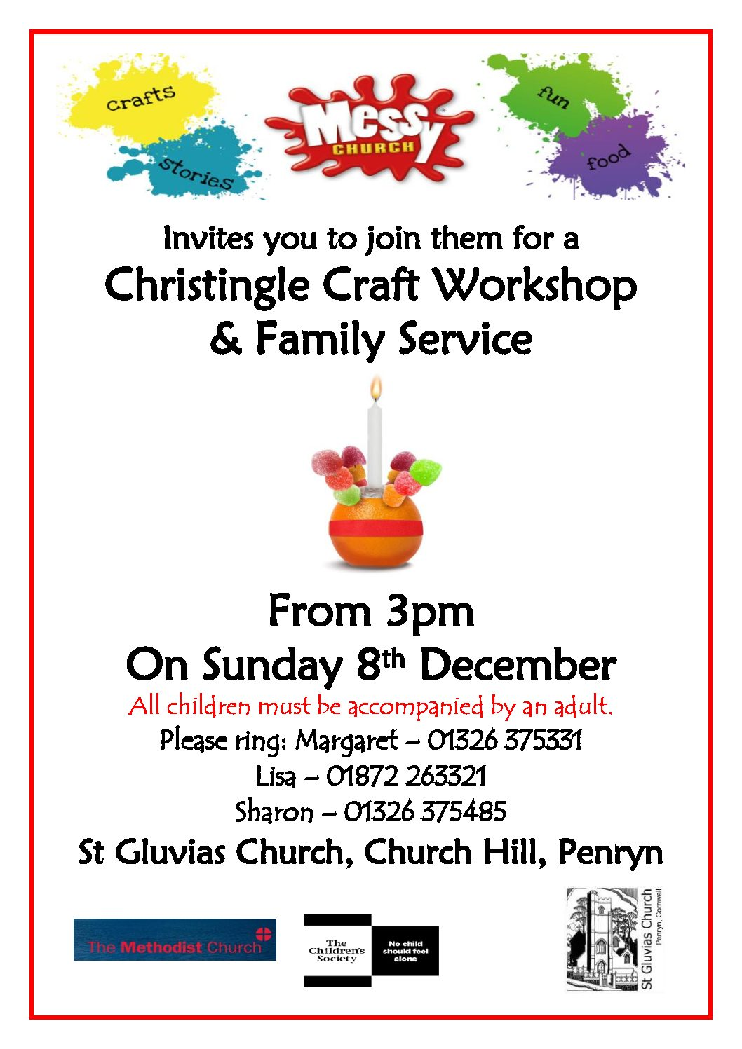 Messy Church - Christingle Craft Workshop & Family Service